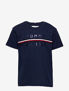 FLAG TAPE TEE S/S - short-sleeved - twilight navy