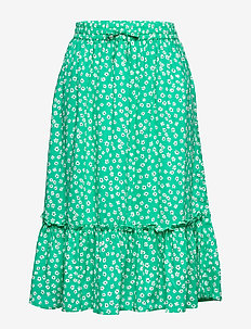 DITSY FLOWER PRINT SKIRT - skirts - cosmic green/ ditsy flower