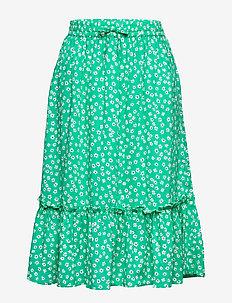 DITSY FLOWER PRINT SKIRT - midi rokken - cosmic green/ ditsy flower