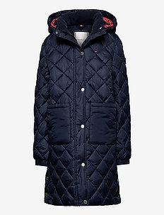 QUILTED COAT - twilight navy