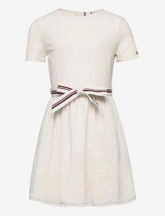Tommy Hilfiger Baby-Jungen Essential Dress S//S Kleid