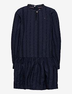 EMBROIDERY ANGLAIS D - dresses - twilight navy