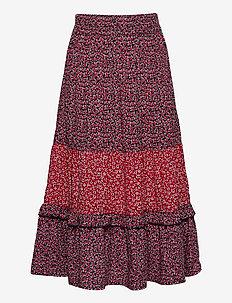 MIXED FLOWER SKIRT - skirts - twilight navy/ flower allover