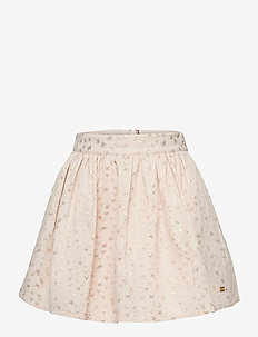 STAR JACQUARD SKIRT - skirts - ivory petal/ star allover