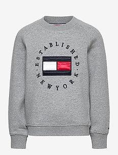 HERITAGE LOGO CREW SWEATSHIRT - sweatshirts & hoodies - mid grey htr