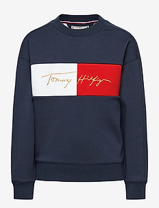 ICONS LOGO CREW SWEATSHIRT - sweatshirts - twilight navy