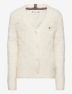 CABLE KNIT CARDIGAN - cardigans - ivory petal