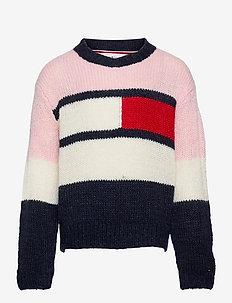 FLAG SWEATER - trøjer - delicate pink/ twilight navy