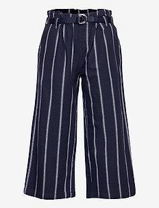 STRIPE PANTS - trousers - twilight navy