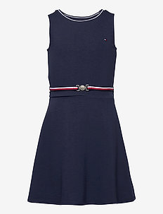 PUNTO MILANO SKATER DRESS SLVSS - dresses - twilight navy