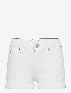 NORA SHORT - shorts - bright white