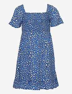 LEOPARD PRINT DRESS S/S - dresses - abstract leopard print