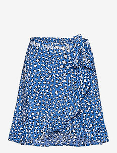 ALLOVER LEOPARD PRINT WRAP SKIRT - skirts - abstract leopard print