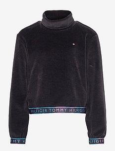 TURTLE NECK SWEATSHIRT - sweatshirts - black