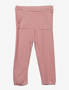 BABY KNITTED PANTS - trousers - blush