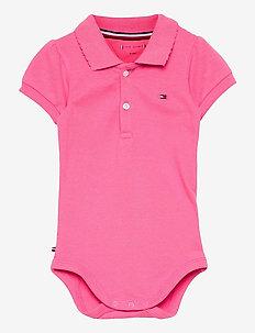 BABY POLO BODY GIFTBOX - kortärmade - exotic pink