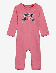 BABY RAGLAN COVERALL L/S - long-sleeved - rosey pink