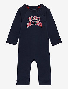 BABY RAGLAN COVERALL L/S - long-sleeved - twilight navy