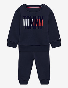 BABY FLAG TRACKSUIT SET - joggedresser - twilight navy