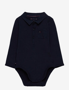 BABY POPLIN COLLAR BODY L/S - long-sleeved - twilight navy
