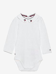 BABY GIRL FANCY COLLAR BODY L/S - langærmede - white
