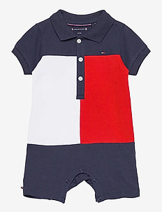 BABY COLORBLOCK POLO SHORTALL - kurzärmelig - twilight navy