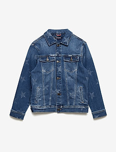 UNISEX DENIM JACKET - denimjakker - mid blue star stretch