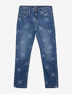 UNISEX DENIM PANTS M - MID BLUE STAR STRETCH