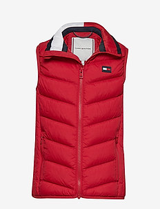 U LIGHT DOWN VEST/GI - APPLE RED