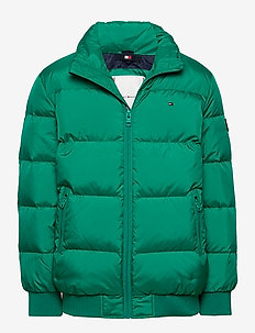 U REFLECTIVE FLAG BOMBER - puffer & padded - midwest green