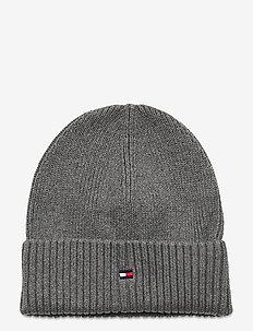 FLAG KNIT BEANIE - hatter - light grey heather