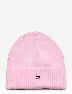 FLAG KNIT BEANIE - hatter - romantic pink