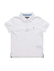 TOMMY POLO S/S - WHITE