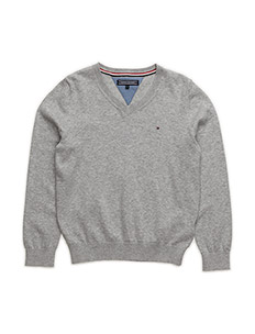 TOMMY VN SWEATER L/S - GREY