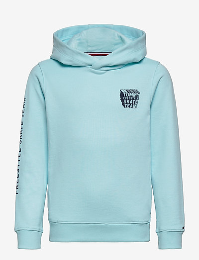 TH COOL GRAPHIC HOODIE - hoodies - frost blue