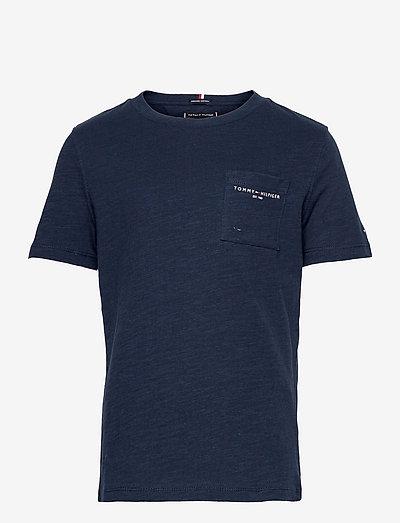 ESSENTIAL SLUB POCKET TEE S/S - short-sleeved - twilight navy