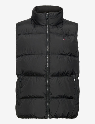 ESSENTIAL PADDED VEST - outerwear - black
