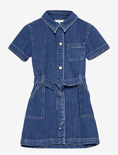 S/S TIE DENIM DRESS - dresses - cleanmed