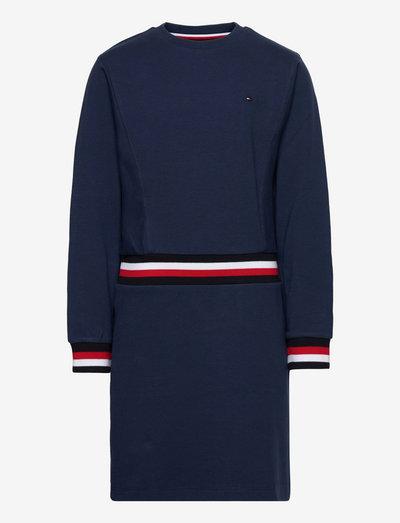 GLOBAL STRIPE KNIT DRESS - dresses & skirts - twilight navy