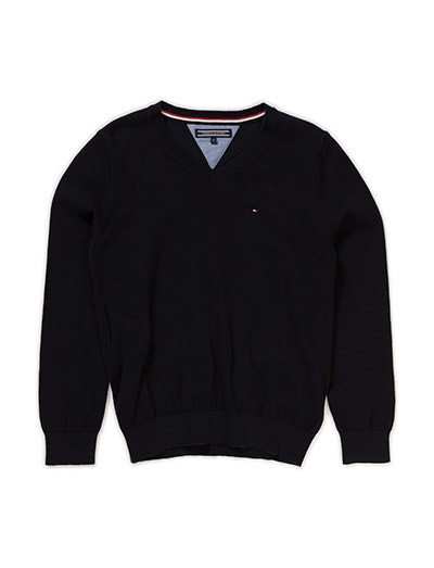 TOMMY VN SWEATER L/S - BLUE