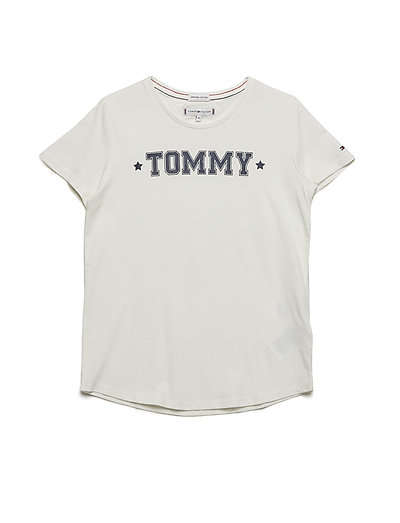 ESSENTIAL TOMMY TEE - SNOW WHITE
