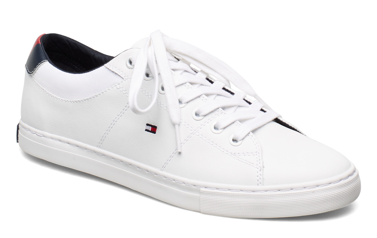 Tommy Hilfiger ESSENTIAL LEATHER  COLLAR VULC - WHITE
