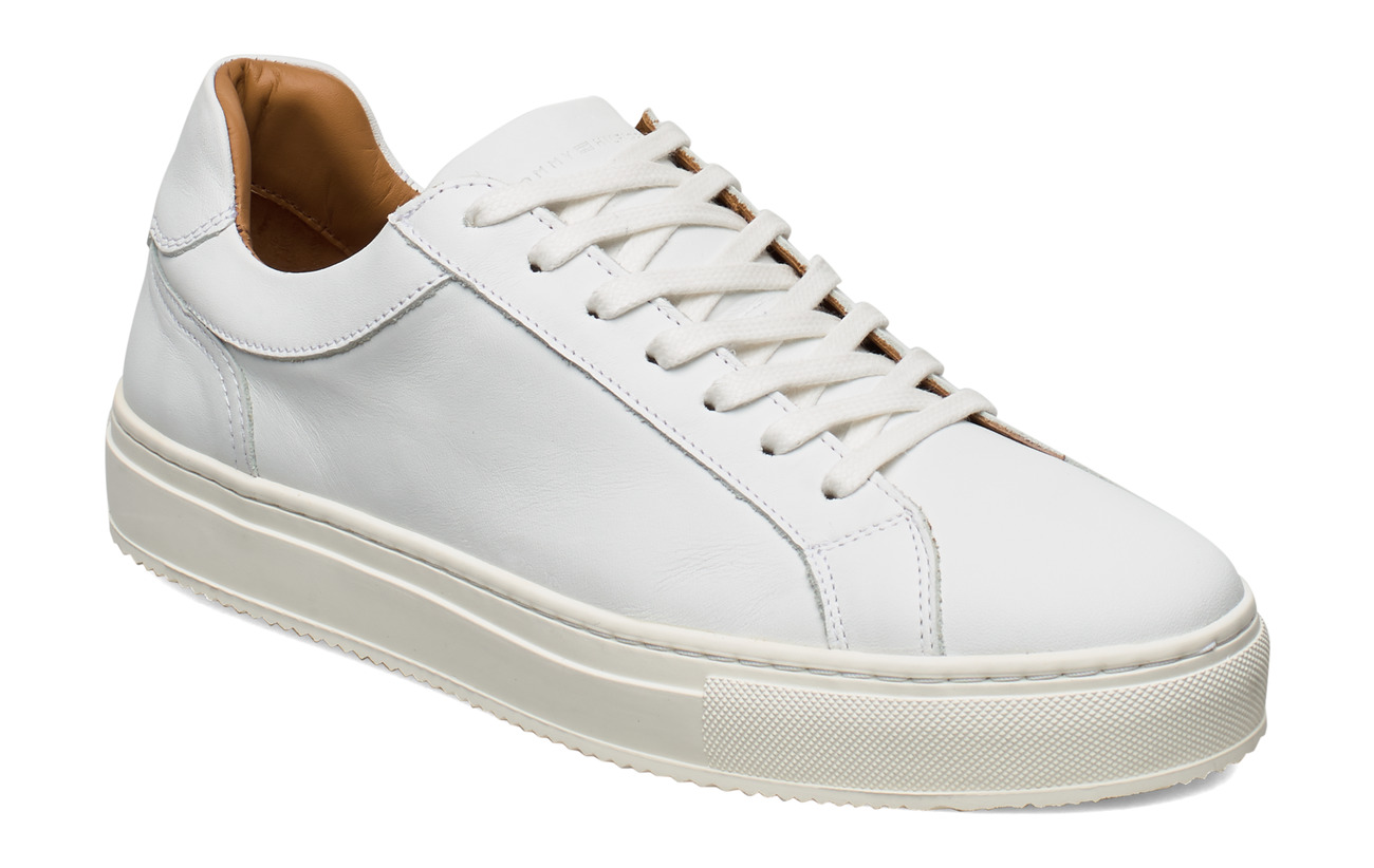 Tommy Hilfiger PREMIUM CUPSOLE LEATHER - WHITE