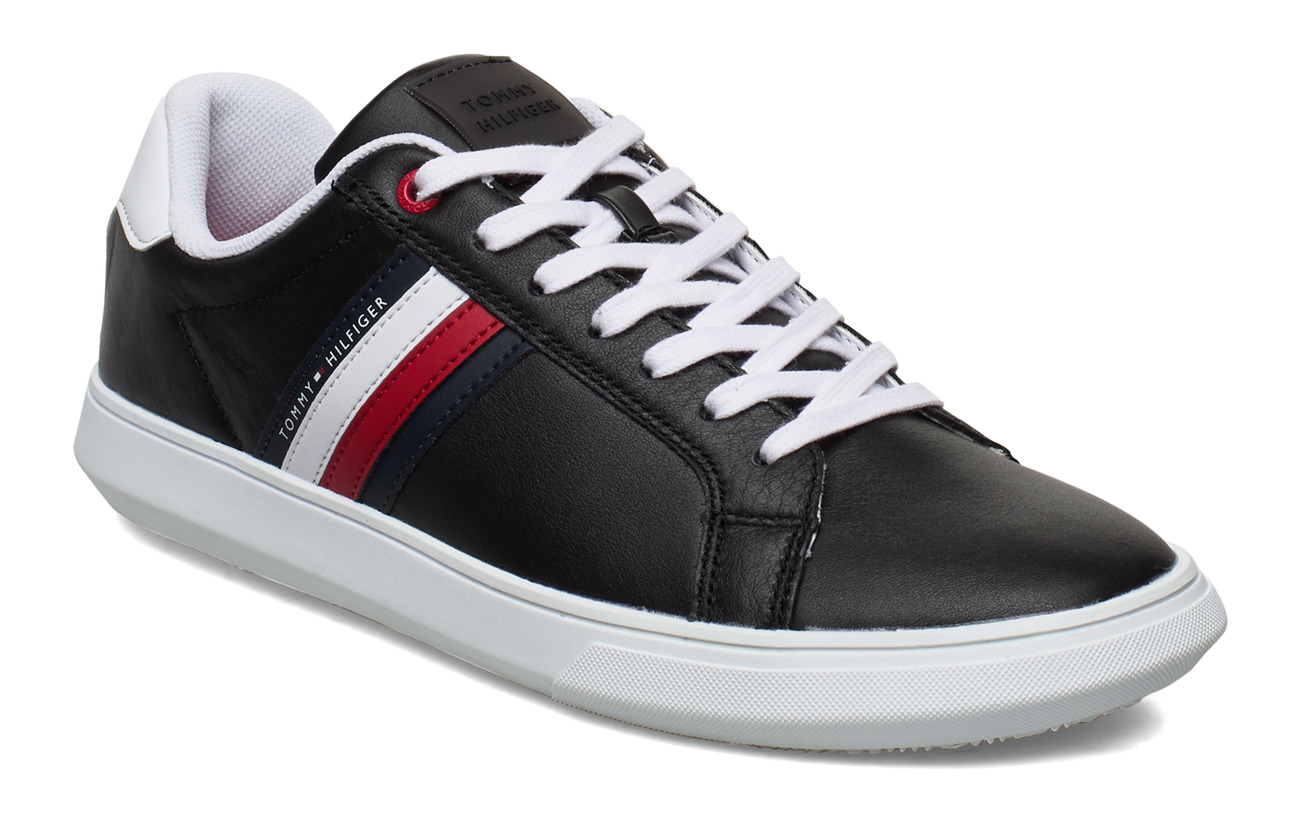 Tommy Hilfiger ESSENTIAL LEATHER CUPSOLE - BLACK