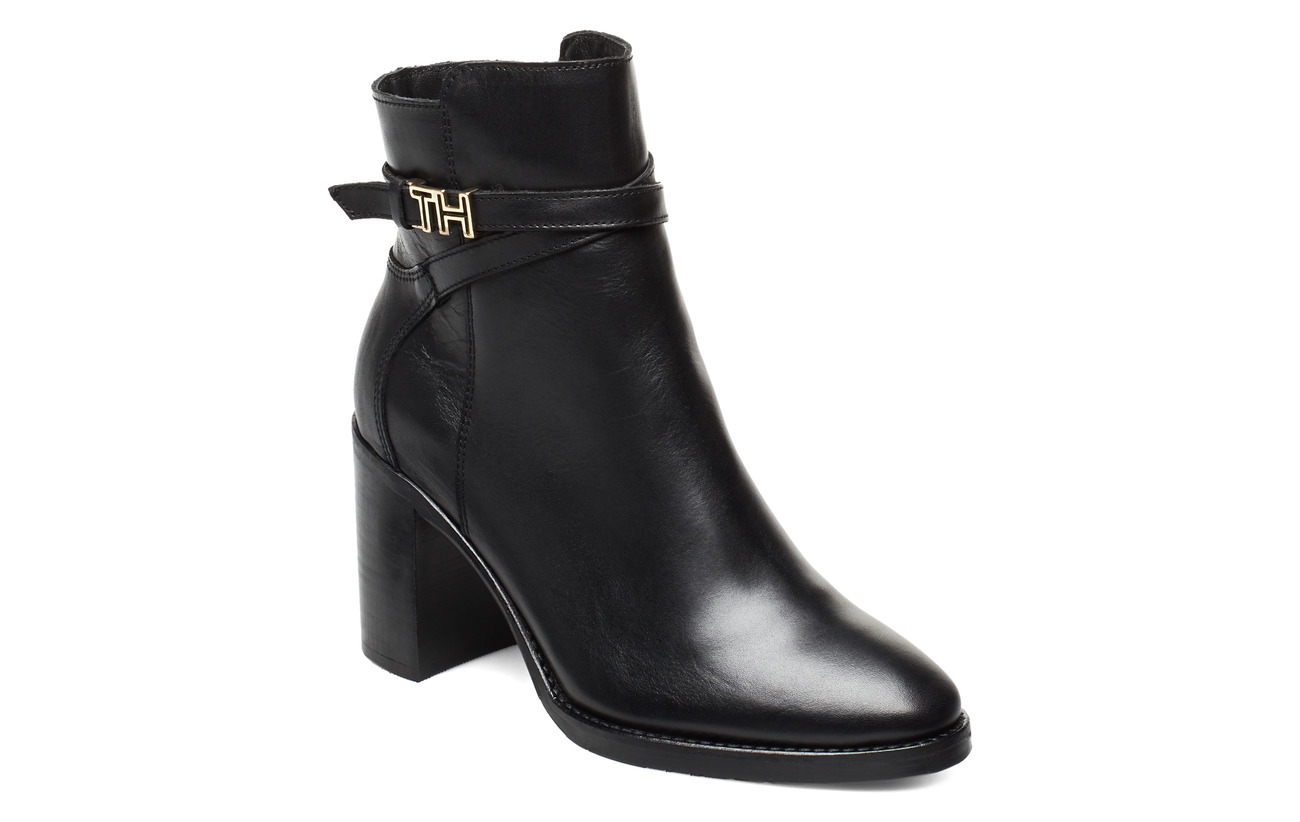 Tommy Hilfiger TH HARDWARE LEATHER HIGH BOOT - BLACK