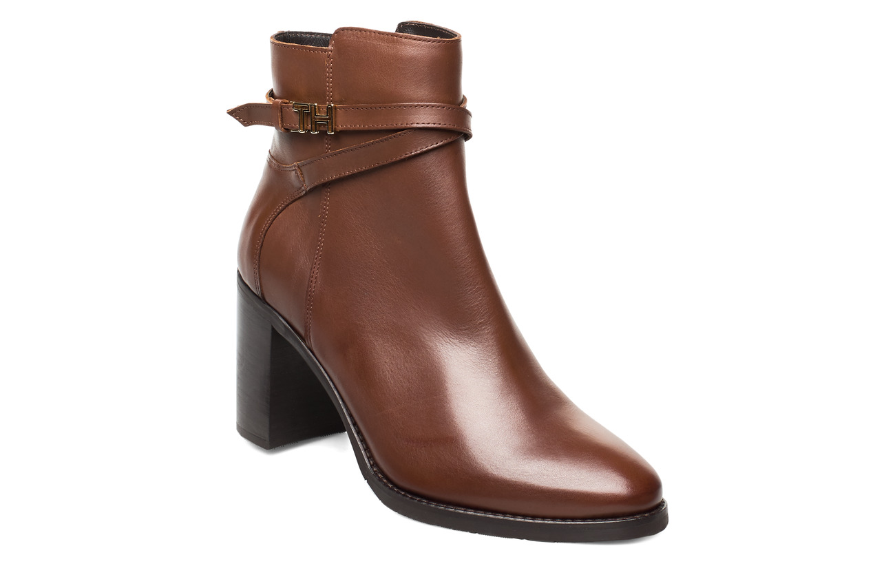 Tommy Hilfiger TH HARDWARE LEATHER HIGH BOOT - COFFEE