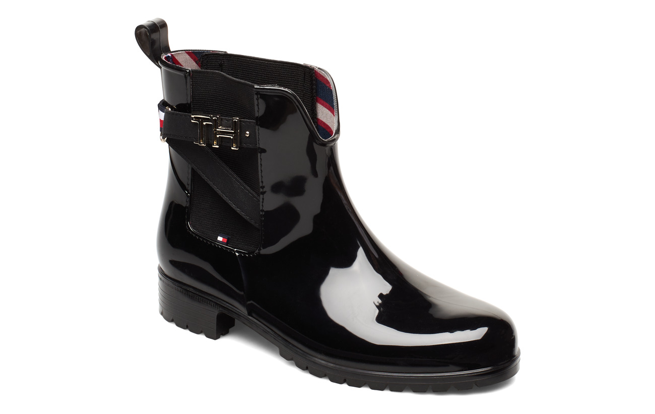 Tommy Hilfiger TH HARDWARE RUBBER BOOTIE - BLACK