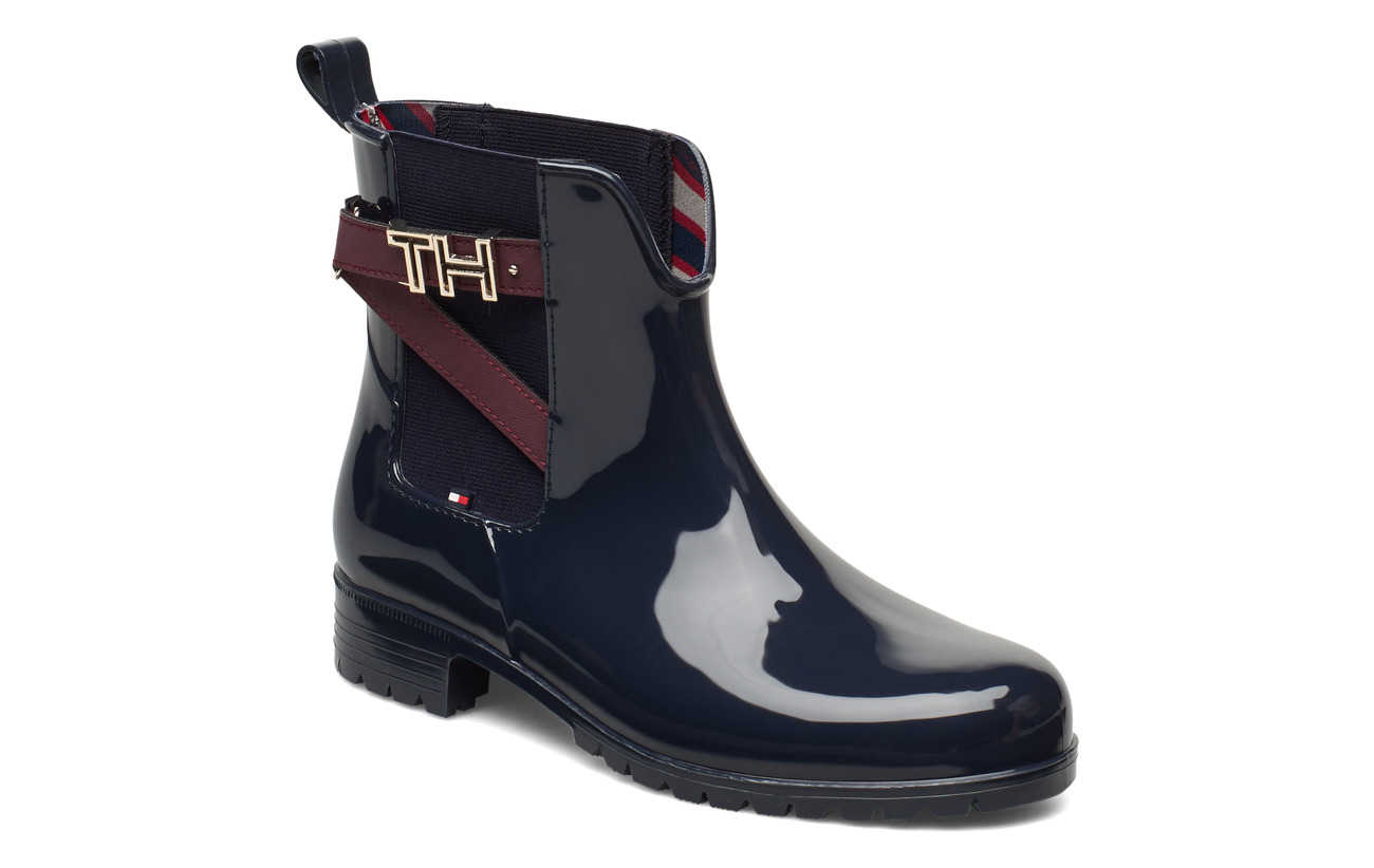 Tommy Hilfiger TH HARDWARE RUBBER BOOTIE - MIDNIGHT