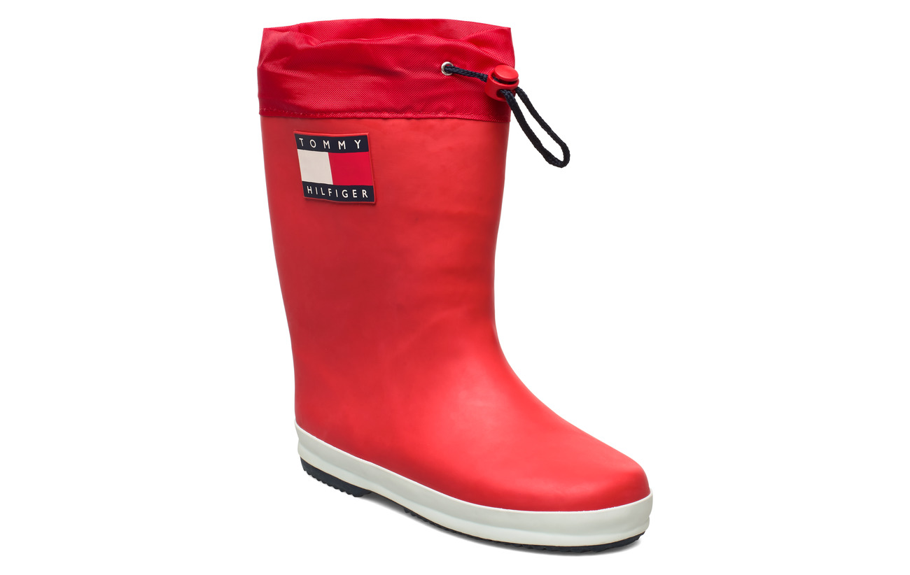 Tommy Hilfiger RAIN BOOT BLUE - ROSSO