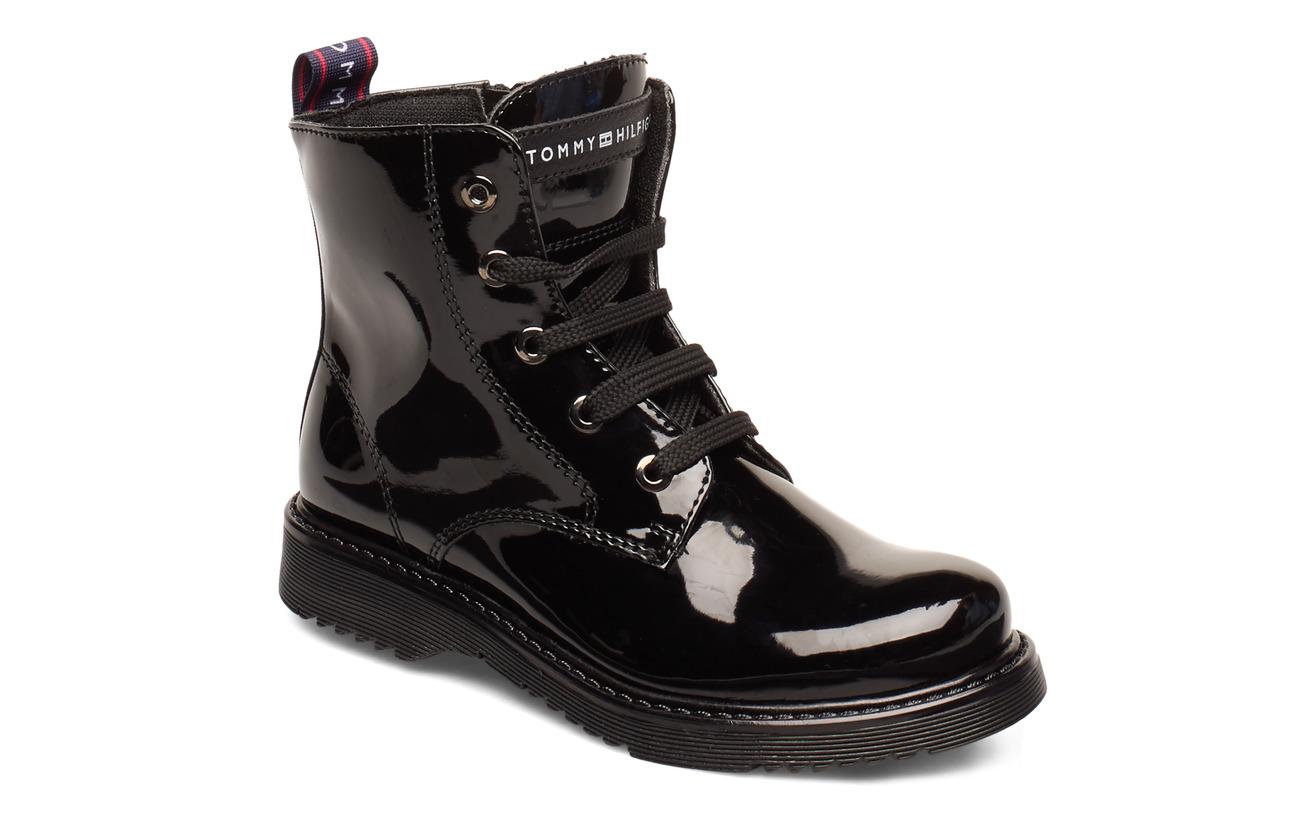 Tommy Hilfiger LACE-UP BOOTIE BLACK - NERO